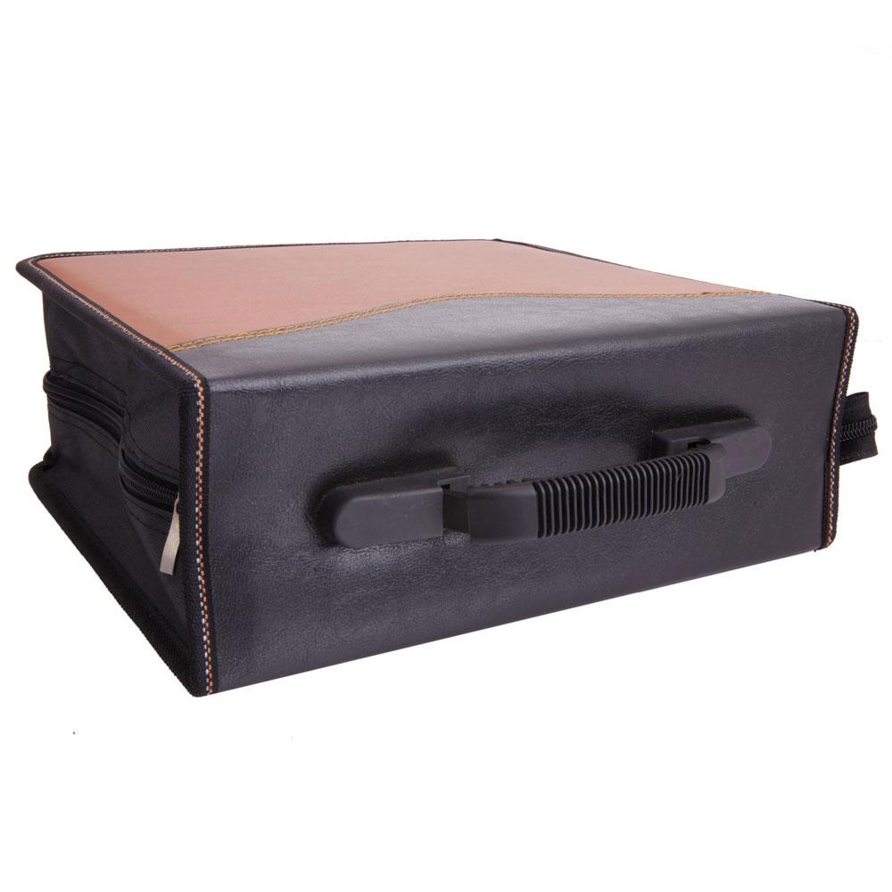240 disc cd dvd wallet holder storage case bag album leaf pvc brown black - Dvd case holder shelf ...