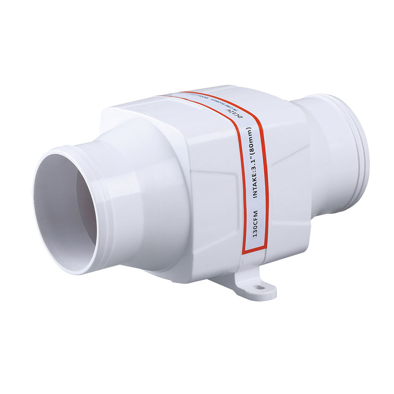 Air Line Blower : White quot in line blower cfm g boat bilge engine