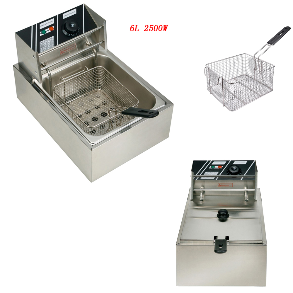 Industrial Kitchen Auctions: 2500W Electric Countertop Deep Fryer Single Basket French