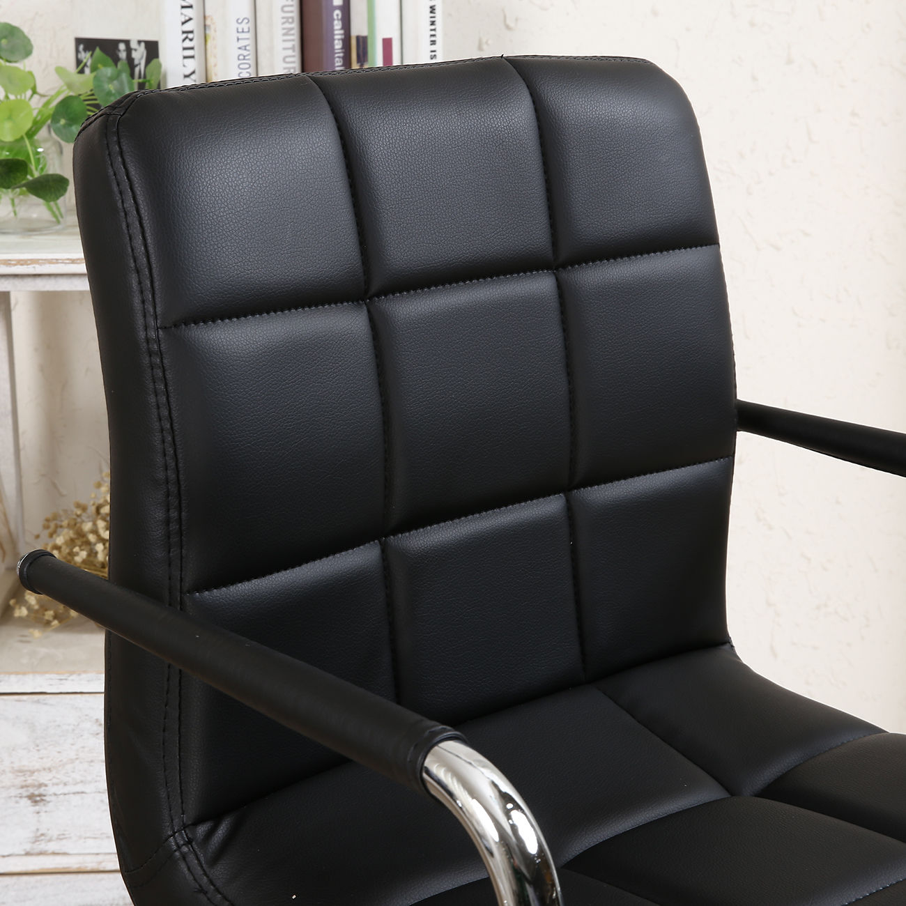2 Pack Swivel Bar Stool Pu Leather Modern Adjustable