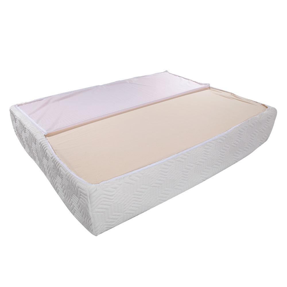 Comfor 14 Cool Medium Firm Memory Foam Mattress Queen Size Three Layers White Us