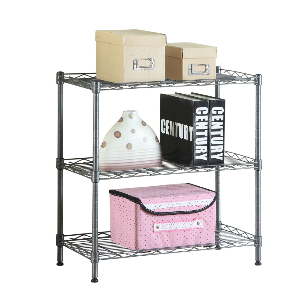 3 tier kitchen rack utility microwave oven stand storage shelf organizer black
