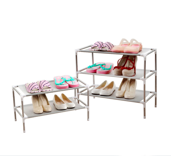 3 Tier Adjustable Shoe Rack Shoe Storage Shelves Free Standing Corner  Organizer