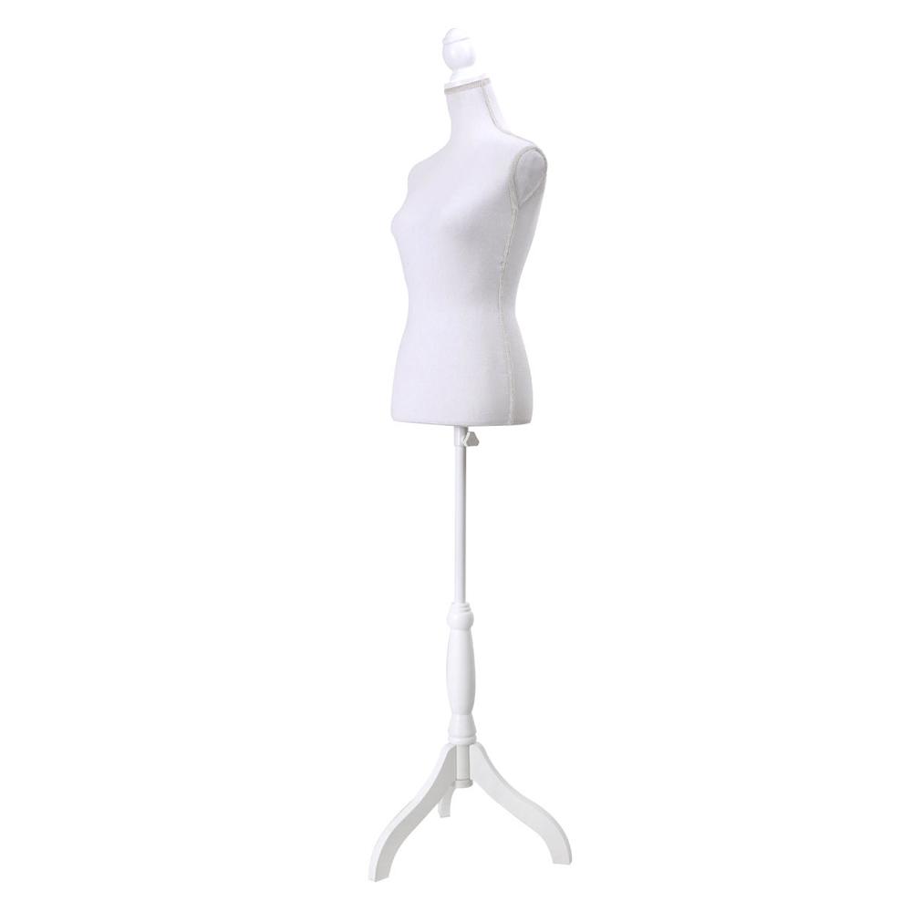 New female mannequin torso dress form display w white for Styrofoam forms