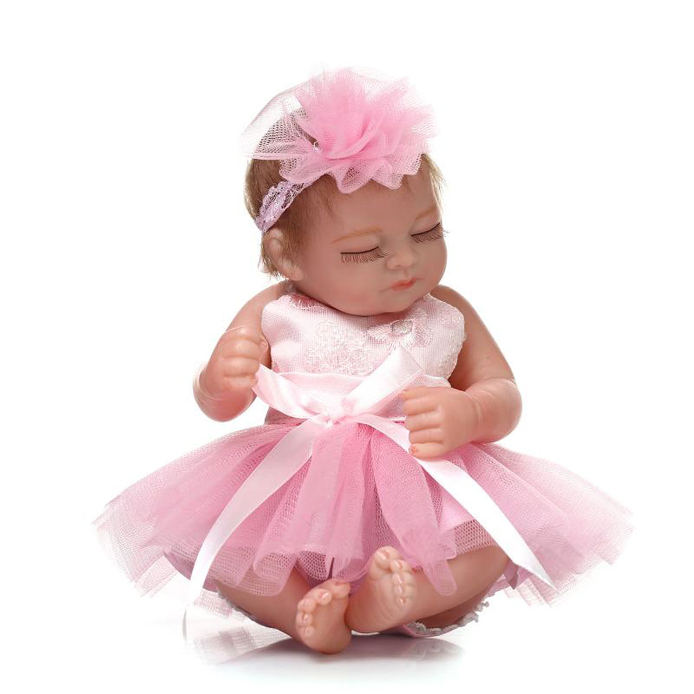 "10"" Reborn Baby Girl Doll Lifelike Soft Vinyl Newborn ..."
