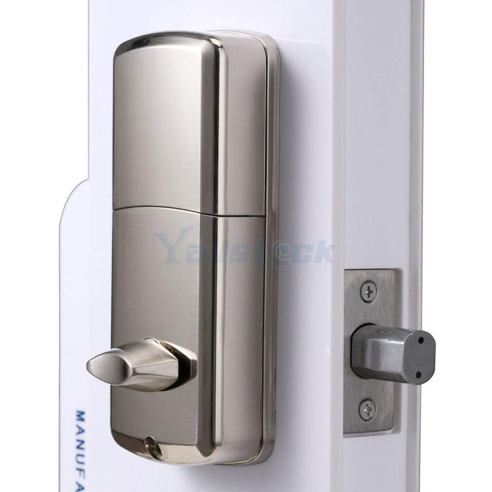 keyless entry deadbolt smart electronic bluetooth keypad entry door lock. Black Bedroom Furniture Sets. Home Design Ideas