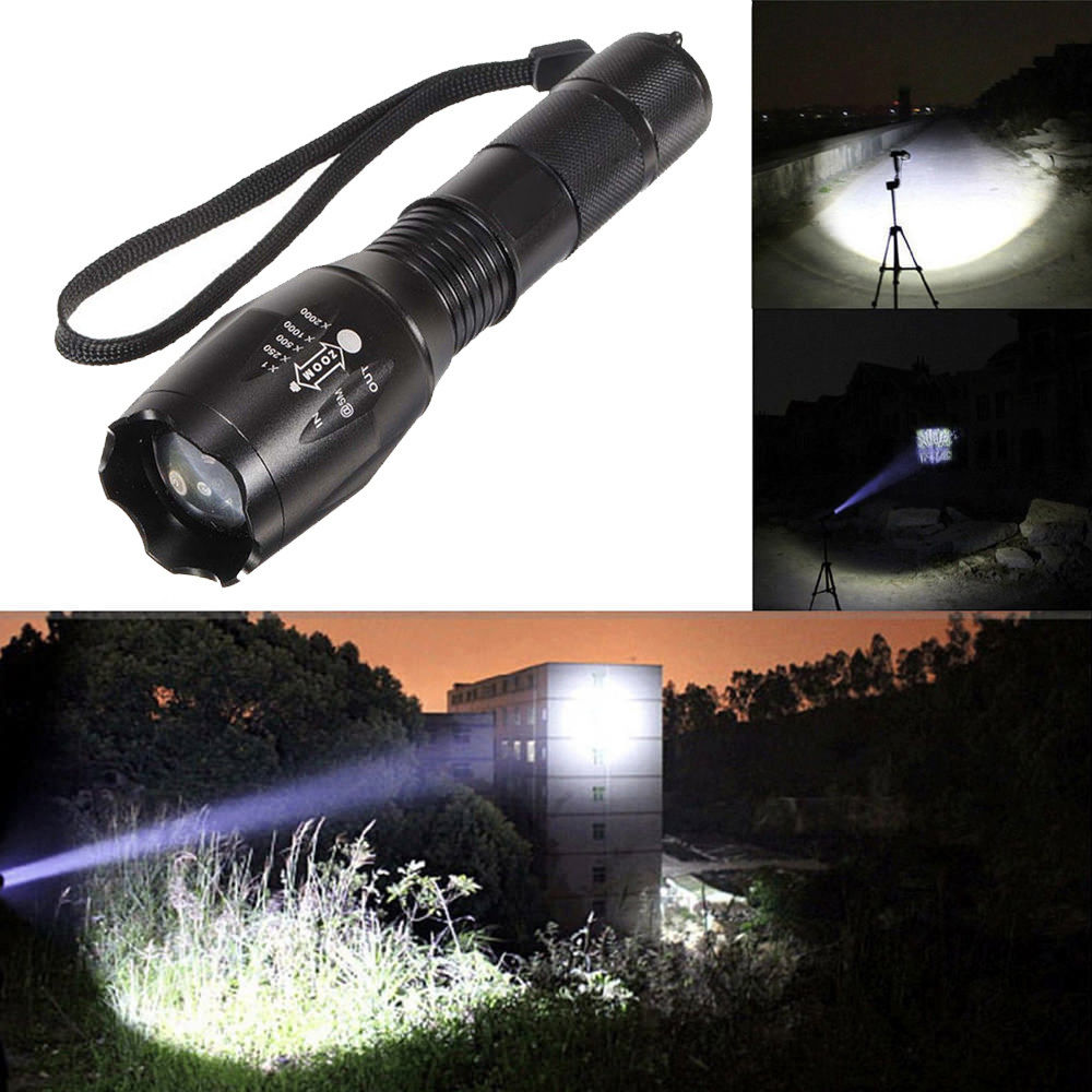 Lights Are Us: 10000Lumens 5 Modes Zoomable LED 18650 Flashlight Torch