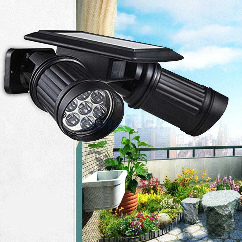 14 led solar power motion sensor spotlight garden security lamp outdoor light ebay. Black Bedroom Furniture Sets. Home Design Ideas