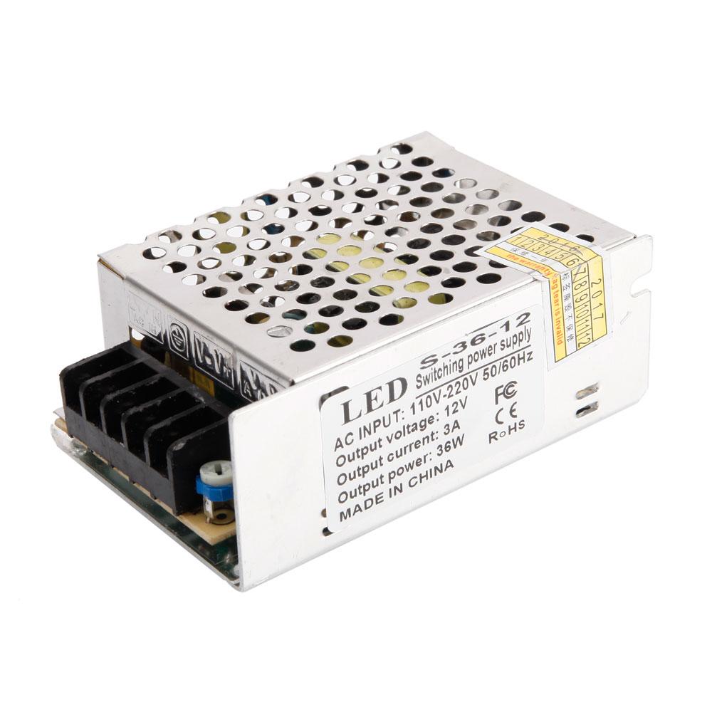 Ac 110v 220v To Dc 5v 12v 24v Switch Power Supply Driver Adapter Led Strip Light Ebay