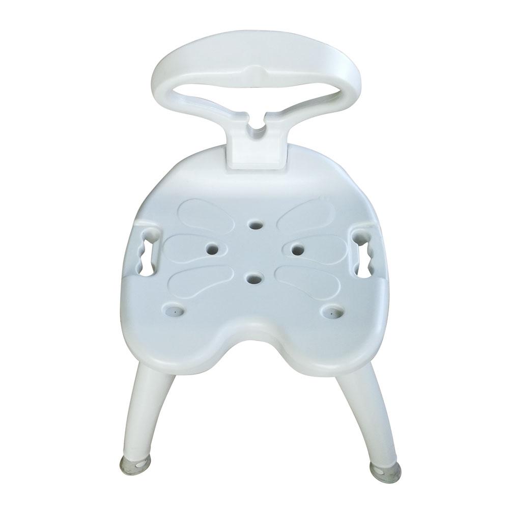 440lbs Plastic Bath Chair Shower Stool Backrest Detachable Heavy ...