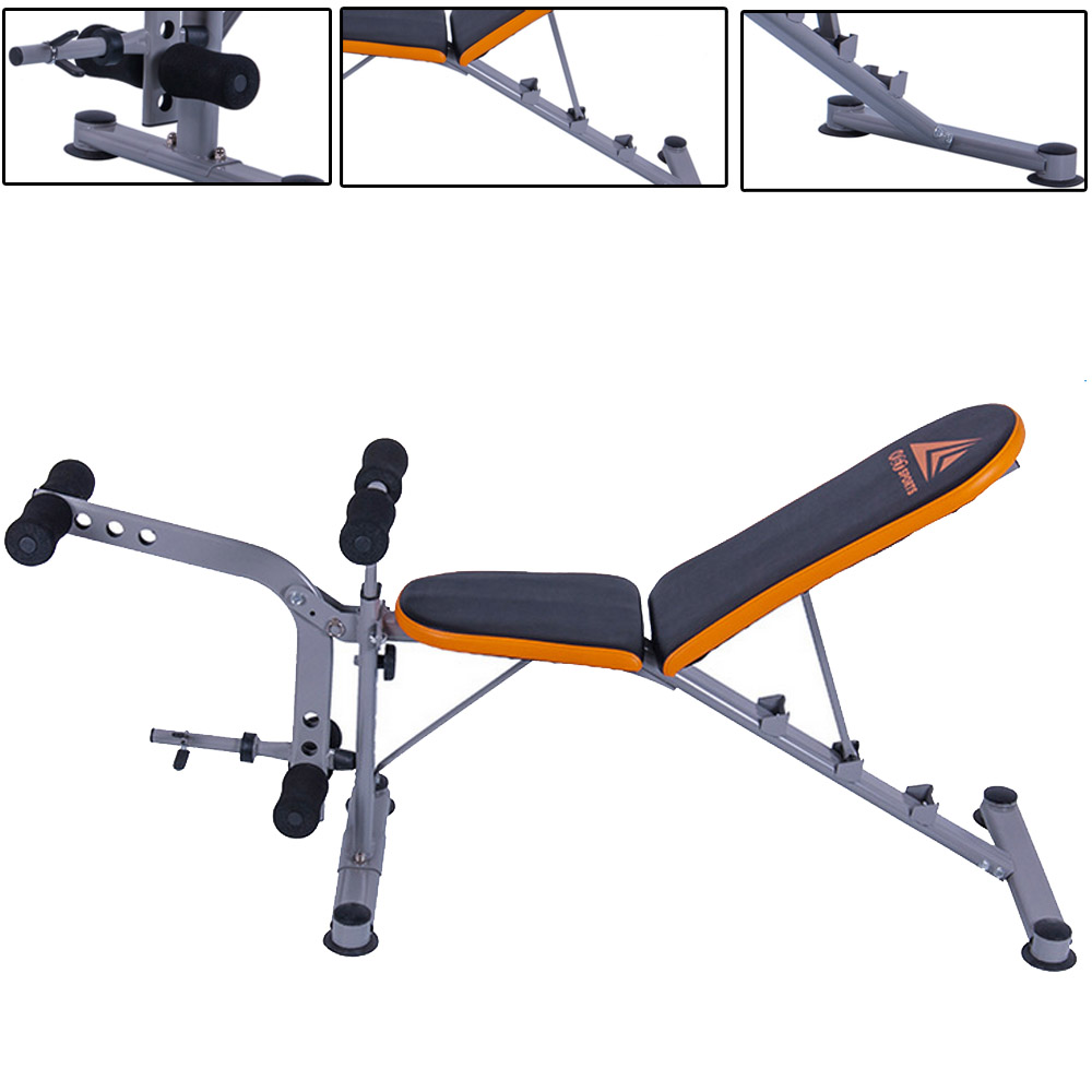 New adjustable 3 position weight bench incline decline home gym exercise fitness ebay - Weight bench incline decline ...