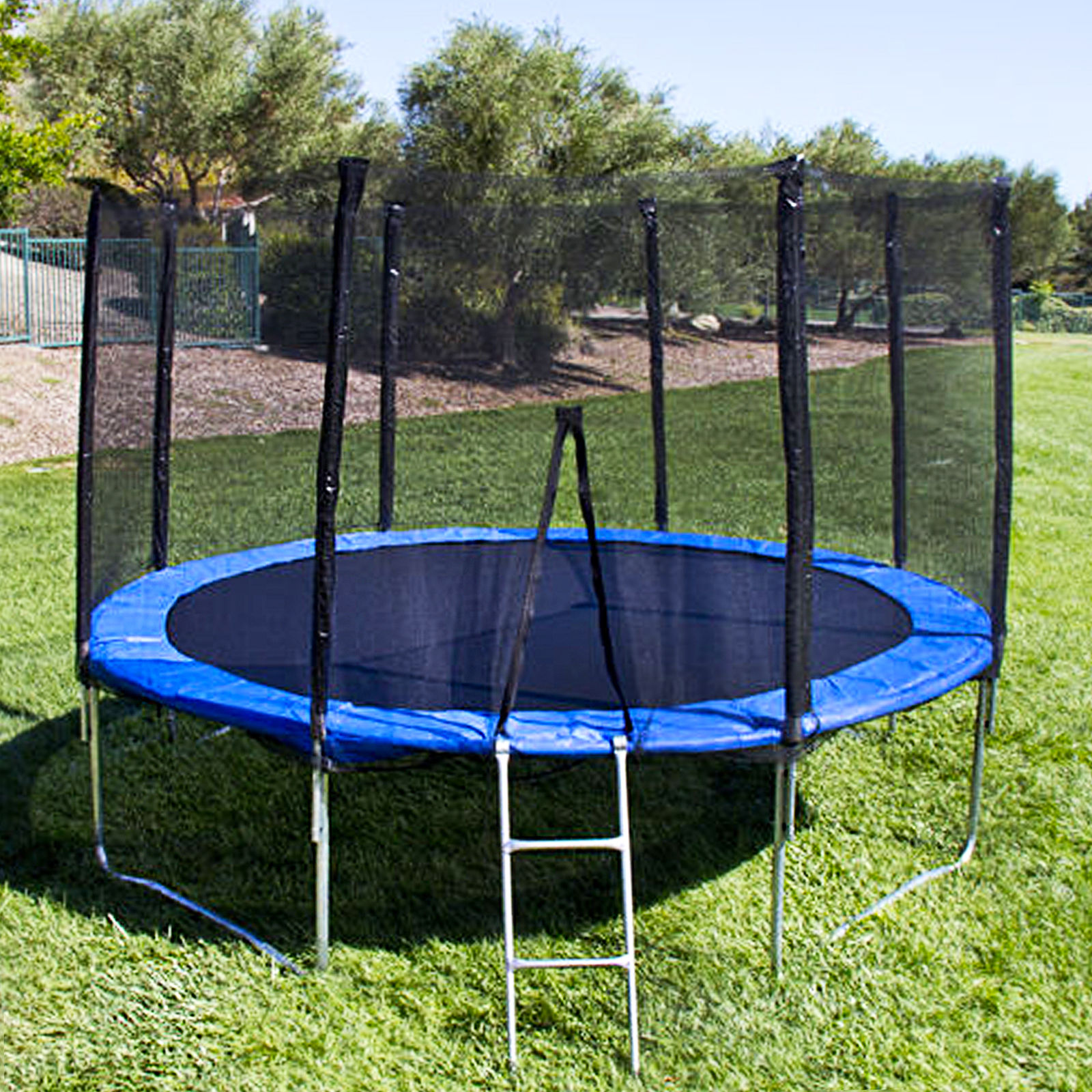 Kids Trampoline Outdoor W Safety Net 12 Ft Backyard