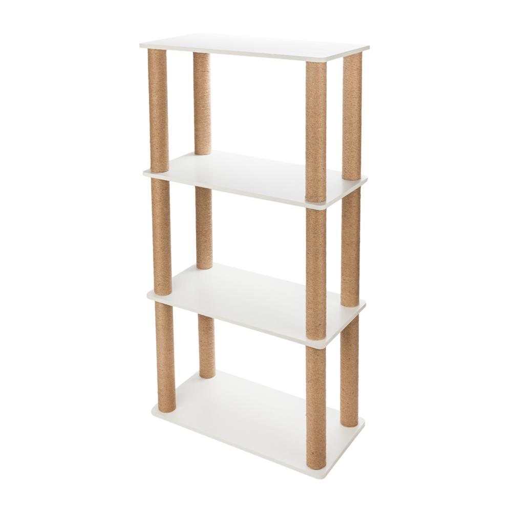Cat Tree Scratch Post Playground Play Tower Desk Modern Furniture 3 Story Shelf