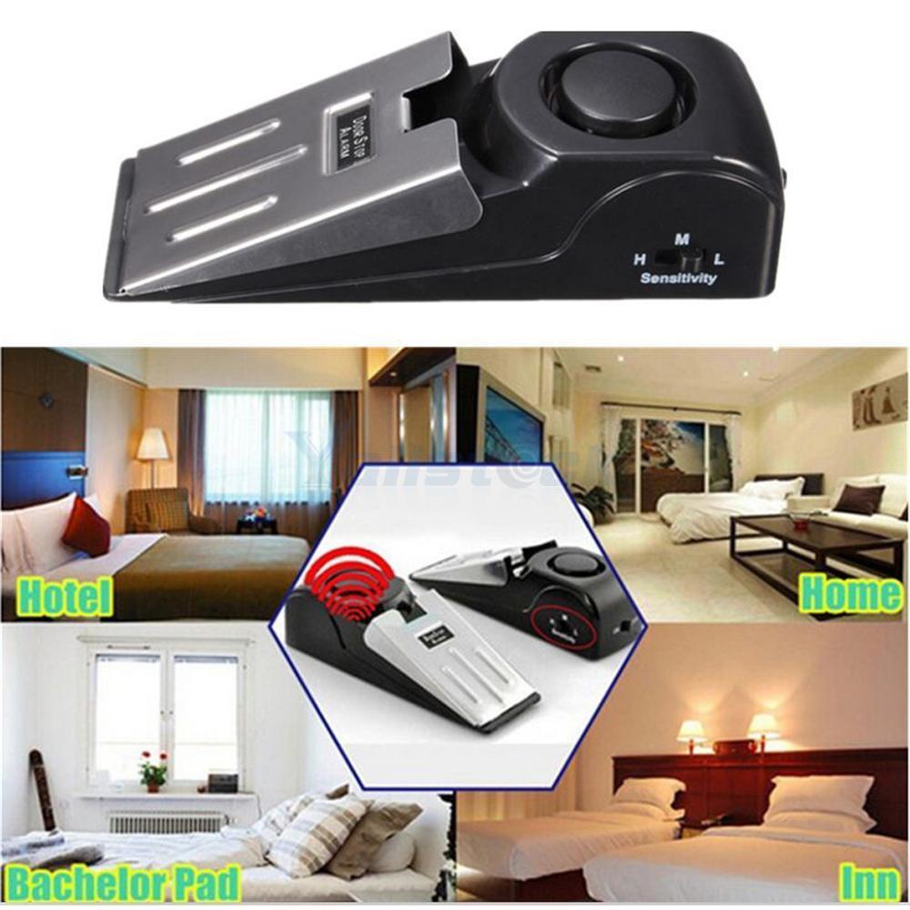 Wireless portable door stop alarm home travel hotel