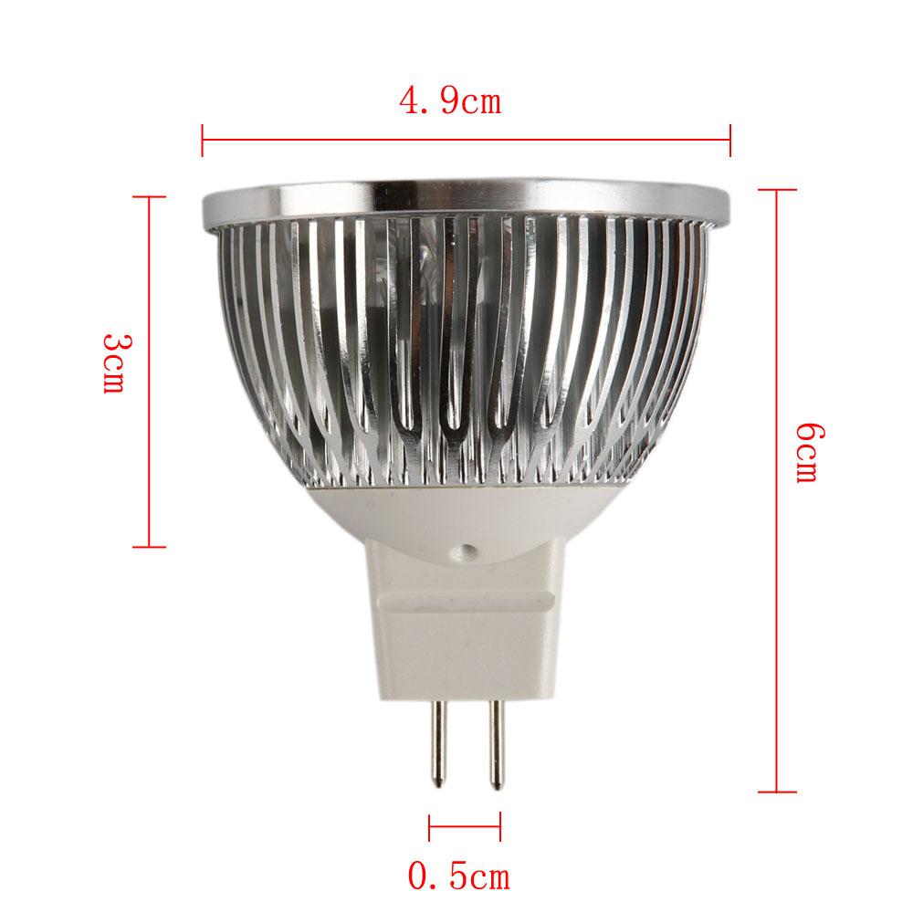 mr16 4w 12v high power led flat fluorescent light lamp bulb spotlight pure white ebay. Black Bedroom Furniture Sets. Home Design Ideas