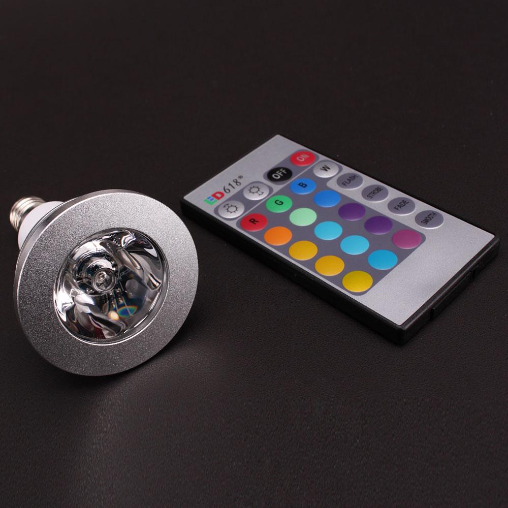 e27 3w 16 color changing rgb led light bulb lamp 85 265v ir remote control. Black Bedroom Furniture Sets. Home Design Ideas